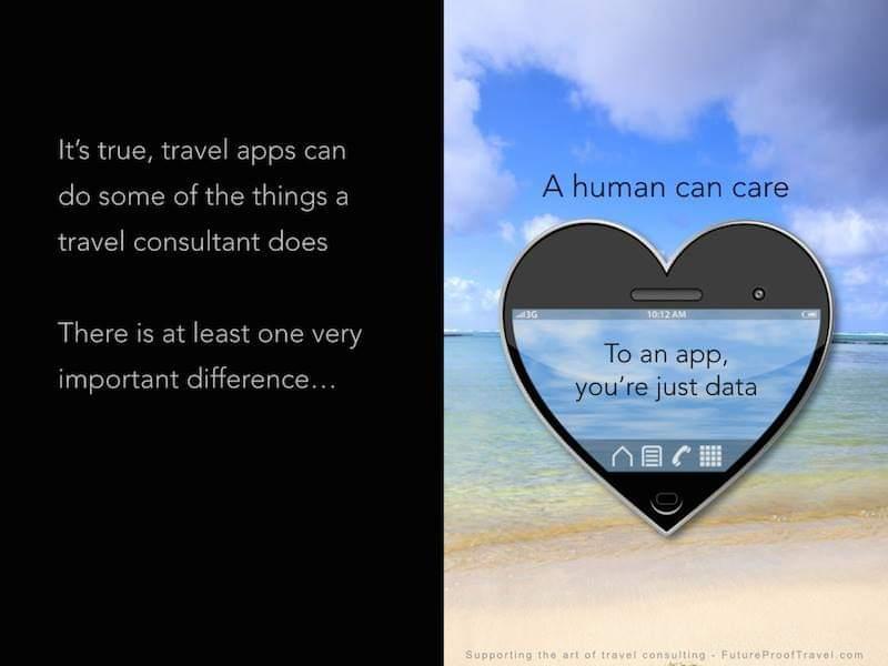 Travel agent vs apps